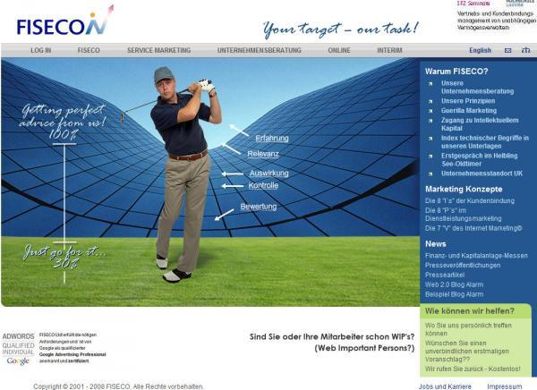 Сайт швейцарской маркетинговой компании